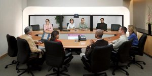 Consultants in board room